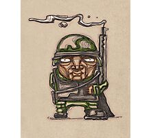 Soldier with his riffle illustration Photographic Print
