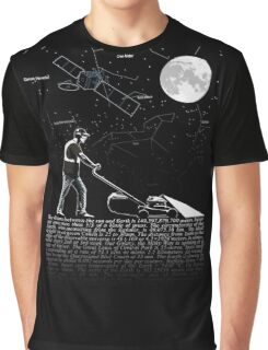 Lawnmowing By Night Graphic T-Shirt