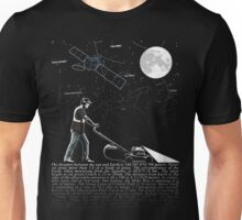 Lawnmowing By Night Unisex T-Shirt