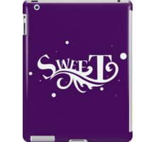 Sweet - Cool Pretty Happy and Cute Girls Clothing and Gifts Design by Sago iPad Case/Skin