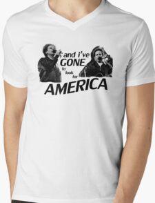 Simon & Garfunkel-America Mens V-Neck T-Shirt