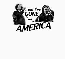 Simon & Garfunkel-America Womens Fitted T-Shirt