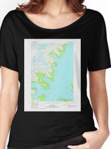 USGS TOPO Map Alaska AK Seward D-4 359002 1951 63360 Women's Relaxed Fit T-Shirt