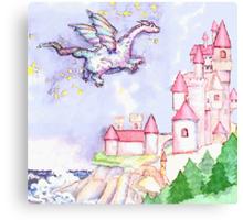Fairytale Dragon Castle  Canvas Print