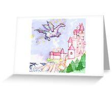 Fairytale Dragon Castle  Greeting Card