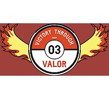 Victory through Valor (Vintage Moltres) Photographic Print