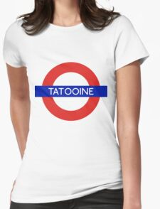 Fandom Tube- TATOOINE Womens Fitted T-Shirt