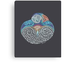 Puffin Totem Canvas Print