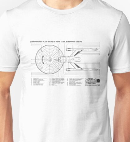 USS Enterprise (NCC-1701) Unisex T-Shirt