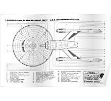 USS Enterprise (NCC-1701) Poster