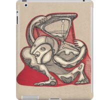 Man charging a sand clock in his back iPad Case/Skin