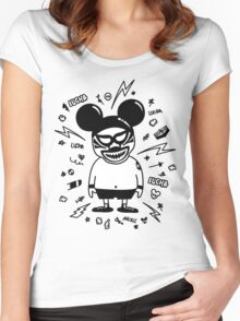 LUCHA MOUSE Women's Fitted Scoop T-Shirt