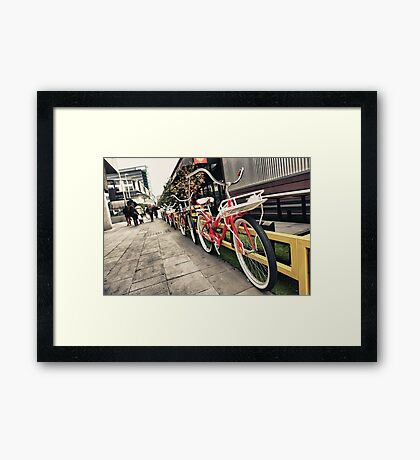 South Wharf Cycles Framed Print