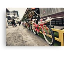 South Wharf Cycles Canvas Print