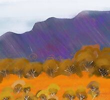 IPad Art - Across the Sand hills by Georgie Sharp
