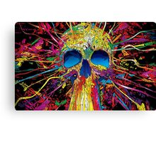 psychedelic skull Canvas Print