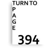 Page 394 Canvas Print