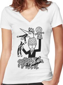 Anatomically correct Women's Fitted V-Neck T-Shirt