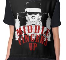 Middle Fingers Chiffon Top