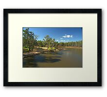 An almost empty lagoon Framed Print