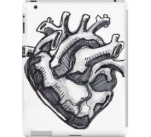 Human heart ink drawing iPad Case/Skin