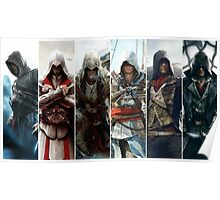 Assassins Creed Faces Poster