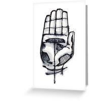 Human hand illustration Greeting Card