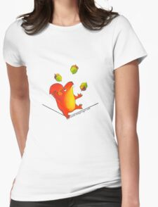 Sally Squirrel Womens Fitted T-Shirt