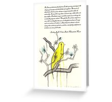 Ode to Bird's Melancholic Music (with original poem by Zackary Brownlee)  Greeting Card