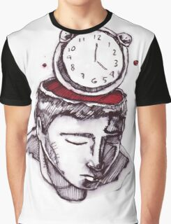 Man with a clock instead of head Graphic T-Shirt