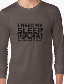 Sleep Lazy Cool Quote Funny Humor joke Long Sleeve T-Shirt