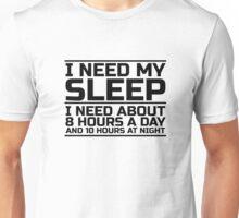 Sleep Lazy Cool Quote Funny Humor joke Unisex T-Shirt