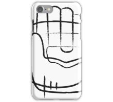 Human hand abstract illustration iPhone Case/Skin