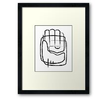 Human hand abstract illustration Framed Print