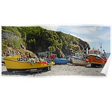 Cornish Inshore Fishing Harbour Poster