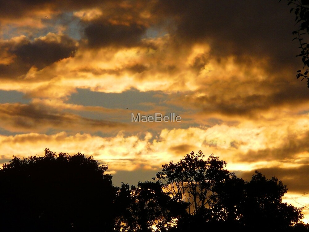 Sask. Summer Skies,God's Glory Shines Through by MaeBelle