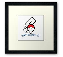 Pokemon go! Gotta charge'em all! Framed Print