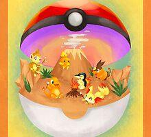Pokemon: Fire Starters Home by toastytofu