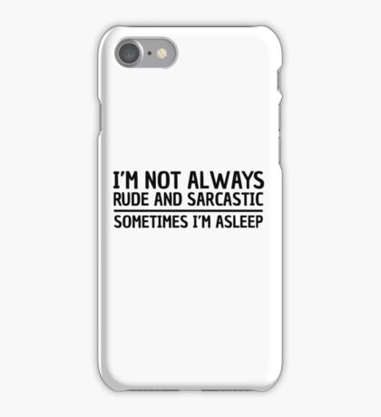Sarcasm Irony Quote Funny Joke Humor Cool iPhone Case/Skin