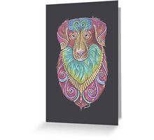 Duck Toller Totem Greeting Card