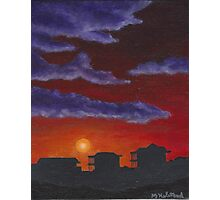 Sunset over Beach Houses Photographic Print