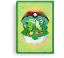 Pokemon: Grass Starters Home Canvas Print