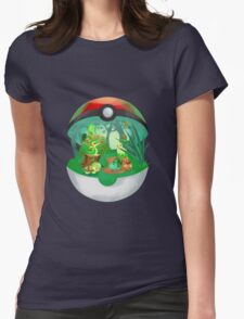 Pokemon: Grass Starters Home Womens Fitted T-Shirt