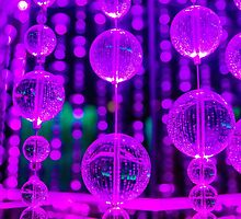 Purple Glass Bubbles by Tina Hailey