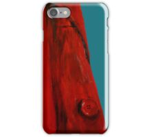 Vintage Red Jacket Home Decor Acrylic Contemporary Painting Blue Edit iPhone Case/Skin