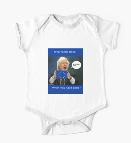 Boris Johnson, scared Brexit One Piece - Short Sleeve