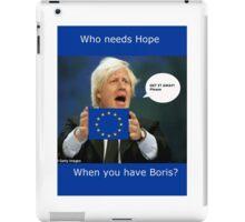 Boris Johnson, scared Brexit iPad Case/Skin