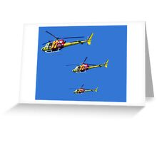Helicopter Trio Greeting Card