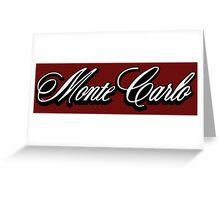 Chevy Monte Carlo  logo Greeting Card