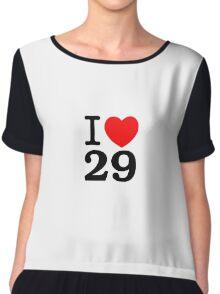I <3 29 Women's Chiffon Top